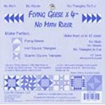 Lazy Girl Designs Flyinig Geese x 4 Ruler