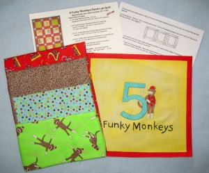 Monkey Lap Quilt Kit