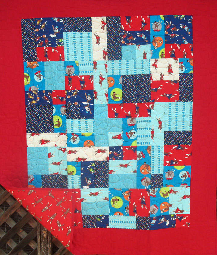 Monkey Tales Baby Boy Quilt- Admit One Fabrics : baby boy quilt fabric - Adamdwight.com