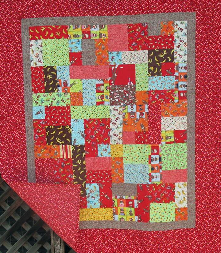 Red baby quilt admit one fabrics for Red door design quilts