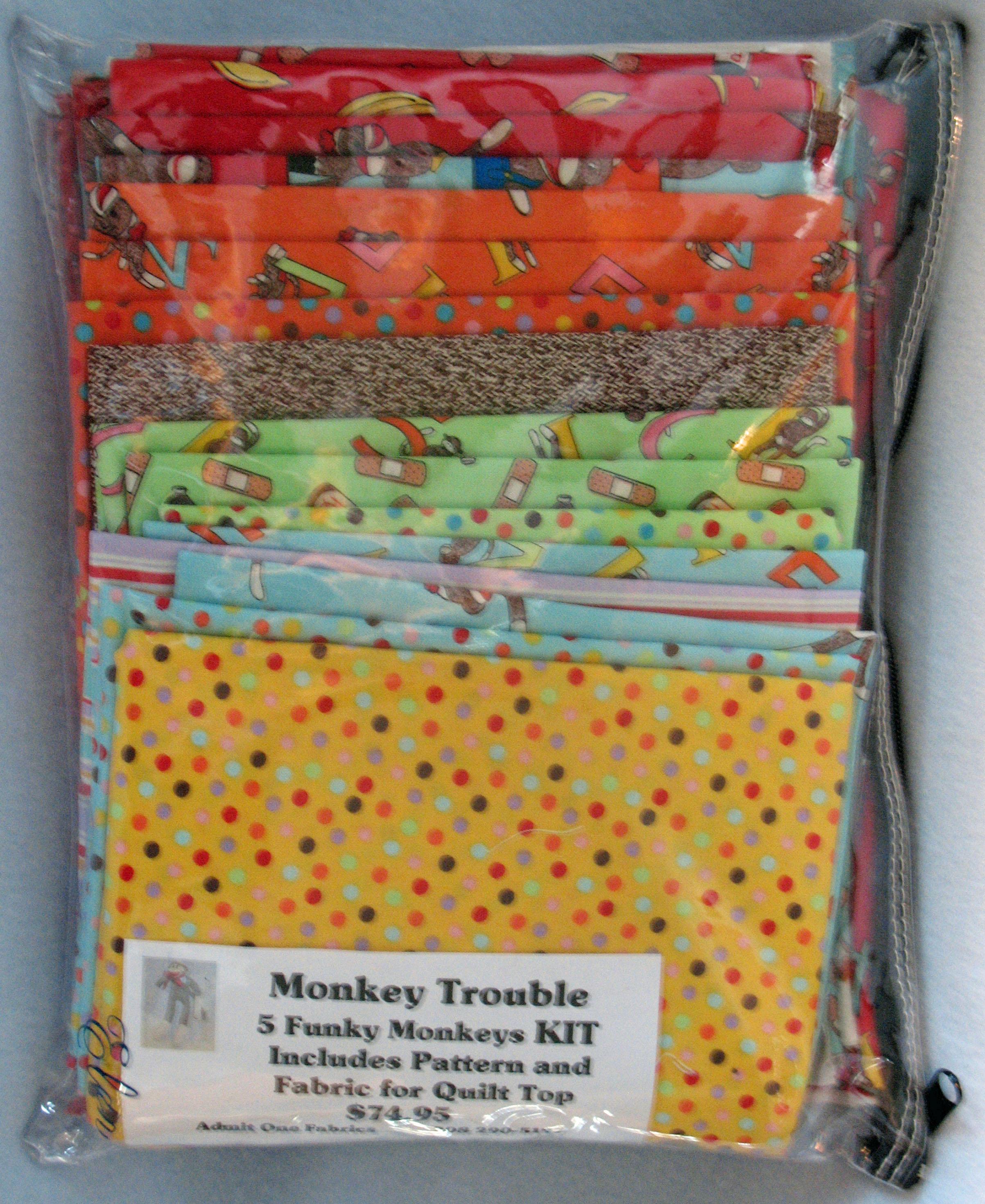 Funky Monkey Fabric and Kits - Admit One Fabrics : quilting fabric kits - Adamdwight.com